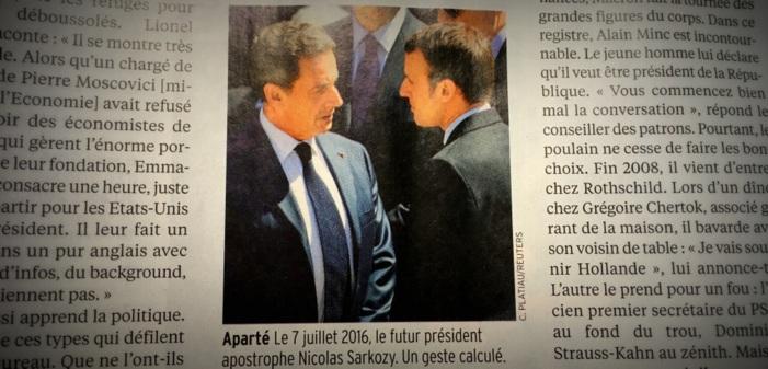 Emmanuel Macron aurait demandé à Nicolas Sarkozy de faire cesser les rumeurs sur sa prétendue homosexualité