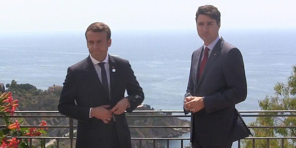 Emmanuel Macron and Justin Trudeau Go on a Bromantic Italian Date, But… (Photos)