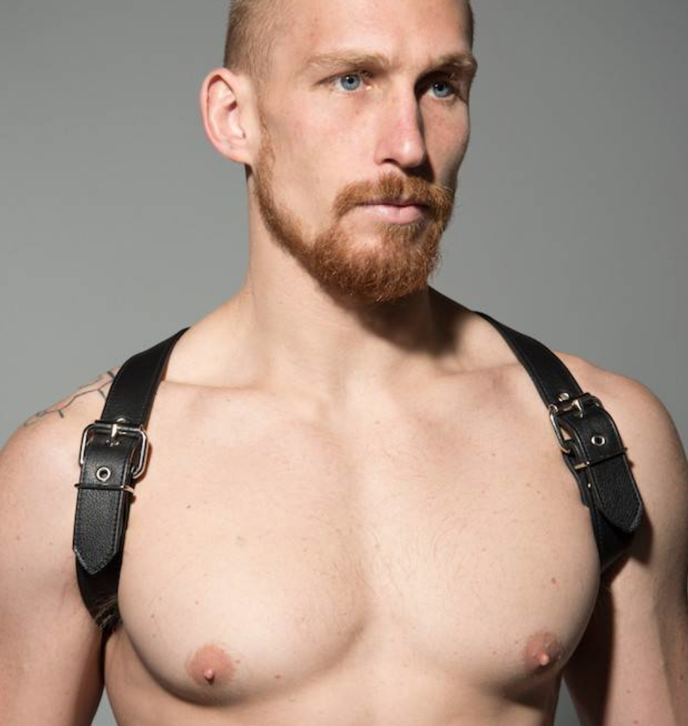 leather harness leather man