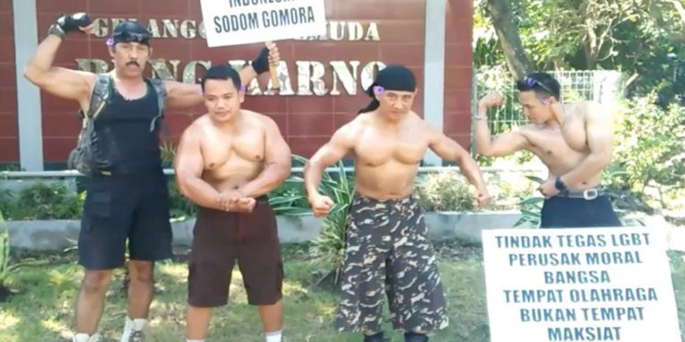 Indonesian Bodybuilders Recently Held a Weird, Small Anti-LGBTQ Protest (Video)