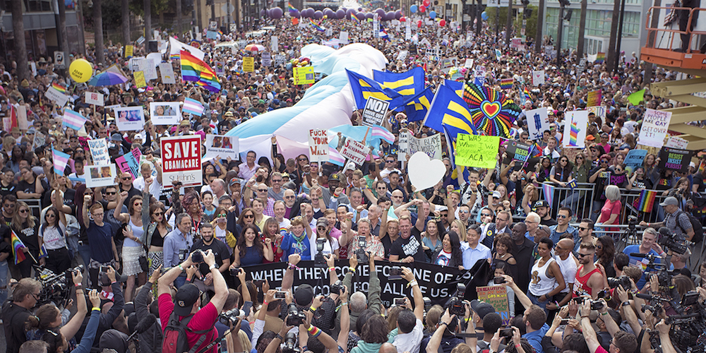 L.A. Pride 2017: 20 Amazing Shots From the #ResistMarch, Festival and More