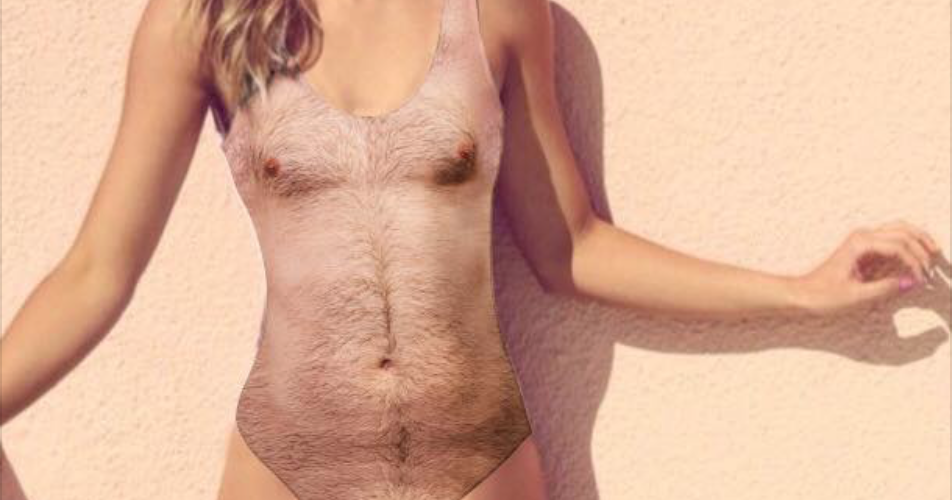 This Hairy Chest Swimsuit Turns Your Gal Pal Into a Sexy Stud