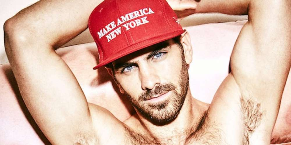 In Only His Underwear, Nyle DiMarco Trampolines for Pride Month