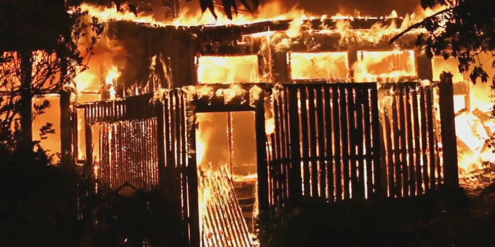 Raging Inferno Destroys Four Homes on New York's Fire Island