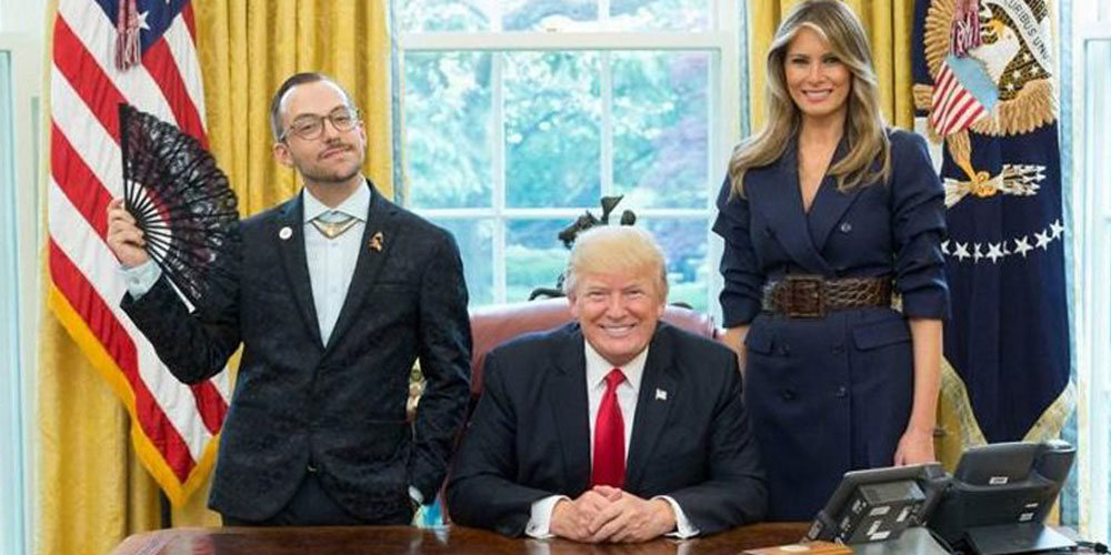 Why This Queer Teacher's Fabulous Photo with Trump Has Gone Viral