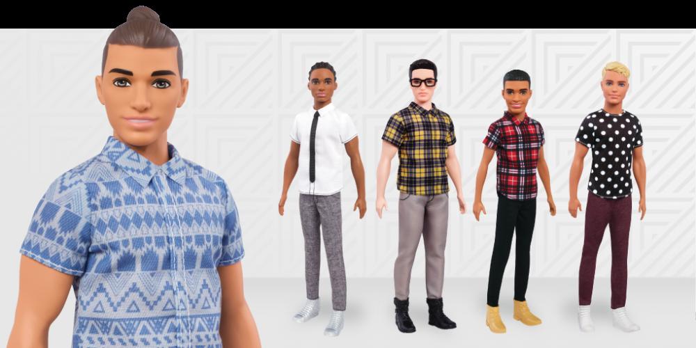 """Uma nova linha de bonecos Ken apresenta """"paizões"""" e coque samurai"""