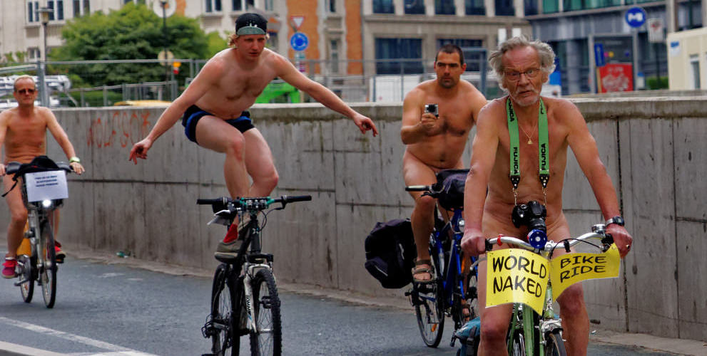 27 Photos From This Year's World Naked Bike Ride (NSFW)