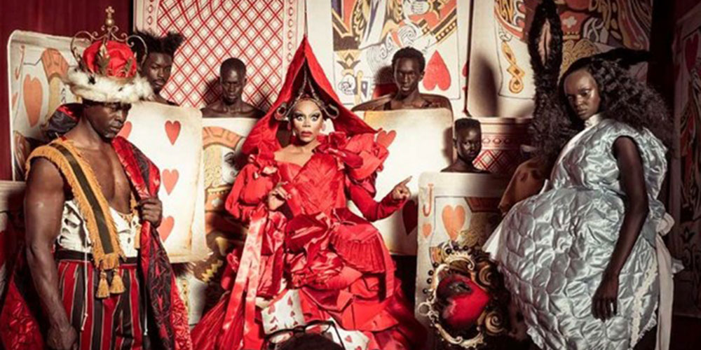 RuPaul Plays the Queen of Hearts in Pirelli's Eye-Popping 'Alice in Wonderland' Calendar (Photos)