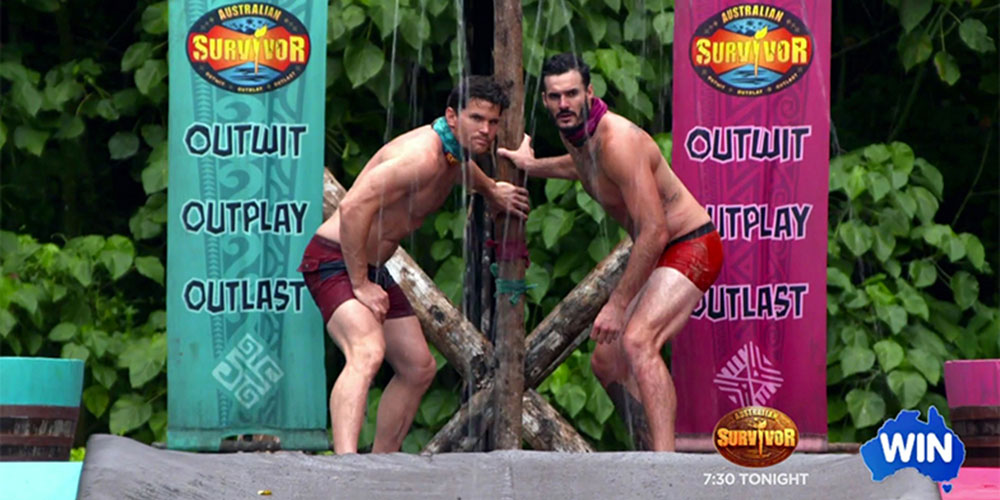 Australia's 'Survivor' Aired a Nude Wrestling Match (While American TV Still Can't Have Nice Things)