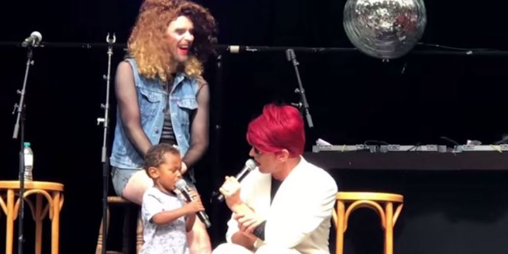 Watch this 2-Year-Old Make His Onstage Debut at a Drag Weekend Event