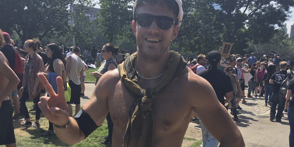 Meet the Hottie Promoting Peace in Boston That Gay Twitter Is Currently Fawning Over