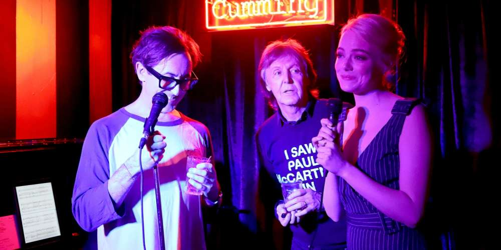 Paul McCartney, Emma Stone and Alan Cumming Gave a Surprise Performance of 'Part of Your World' in NYC