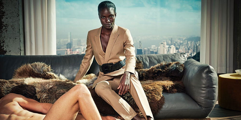 These Ads for Women's Suits Are Going Viral for Using Naked Men as Props
