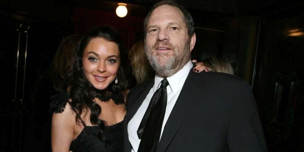 Lindsay Lohan pede que deixem o predador sexual Harvey Weinstein em paz