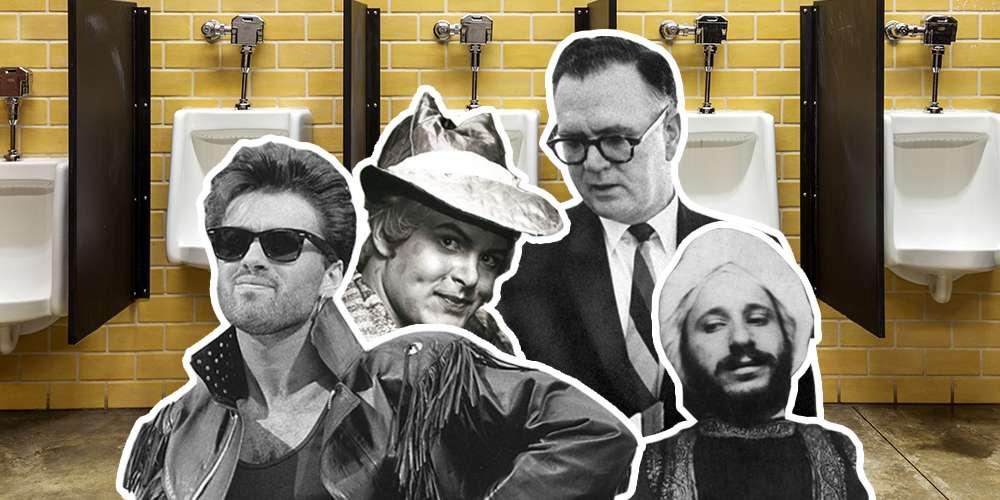 Let's Examine the Phenomenon of Gays Cruising Bathrooms Through 4 Famous Men