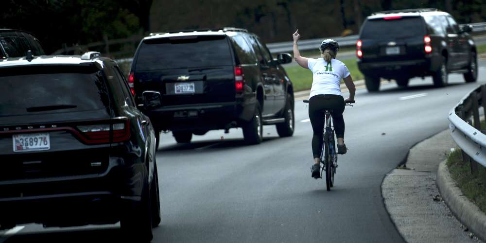 This Woman Was Fired for Flipping Off the Presidential Motorcade, But She's Our Shero