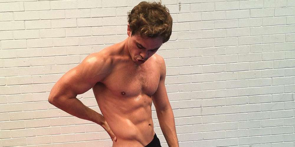 Dacre Montgomery From 'Stranger Things' Flashes His Abs, Undies and Armpits in This Sexy BTS Vid
