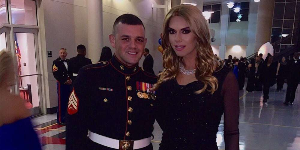 'Drag Race' Vet Kelly Mantle and Her Boyfriend Turned Heads at This Year's Marine Corps Ball