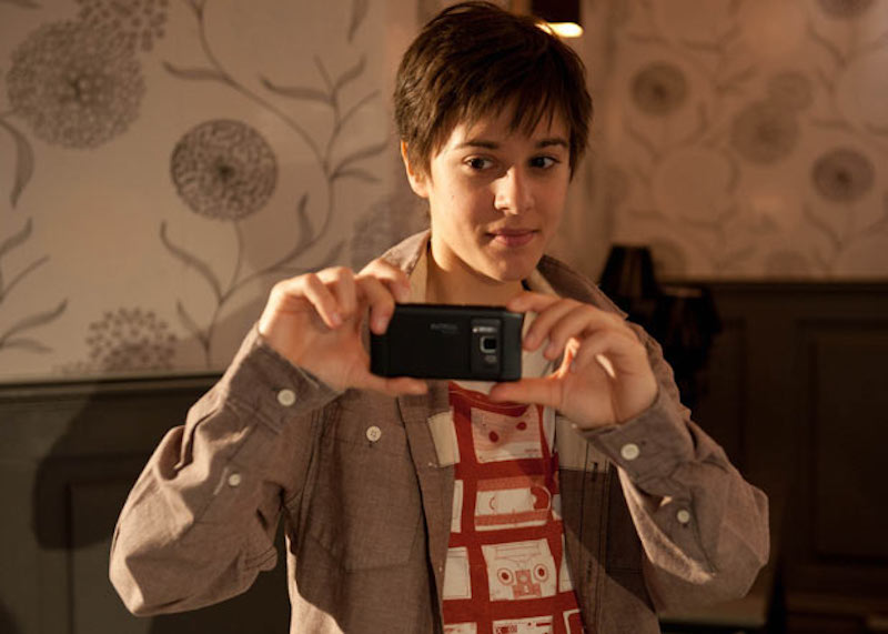 Victoria Atkin as Jason Costello in Hollyoaks, trans male TV characters 06