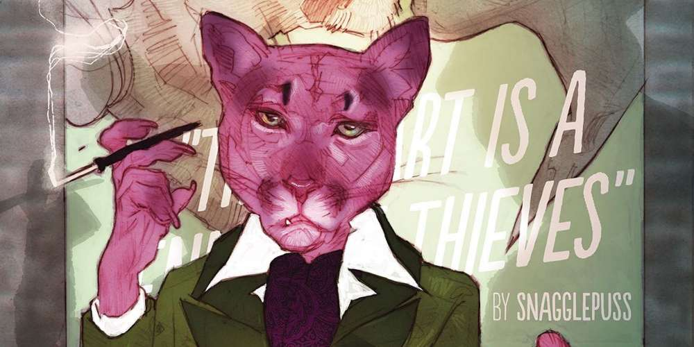In the New Snagglepuss Comic, Our Favorite Talking Cat Is a Regular Patron of Stonewall