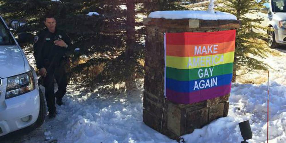 Mike Pence's Aspen Neighbors Troll Him Hard With a 'Make America Gay Again' Pride Flag