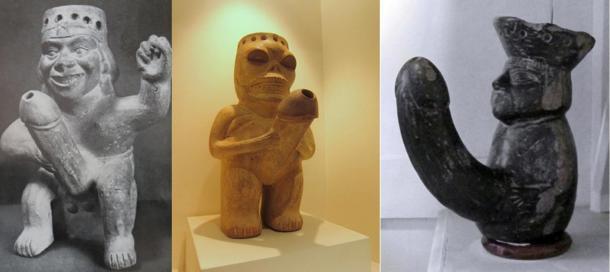penis sculpture pottery peru, penis sculpture 02