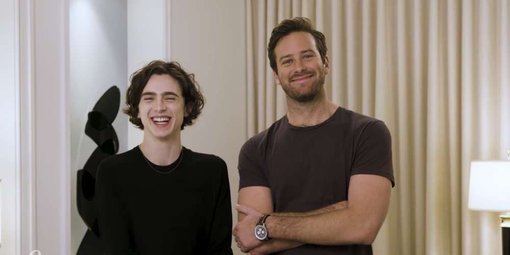 If You Want to Get Sh*tfaced With Armie Hammer andTimothée Chalamet, Now's Your Chance