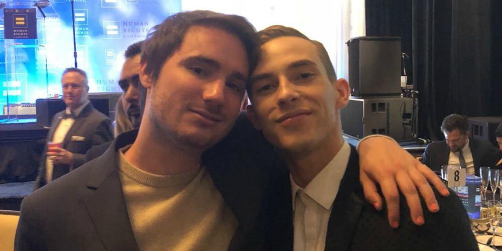 Adam Rippon Finally Met Sally Field's Son Sam Greisman