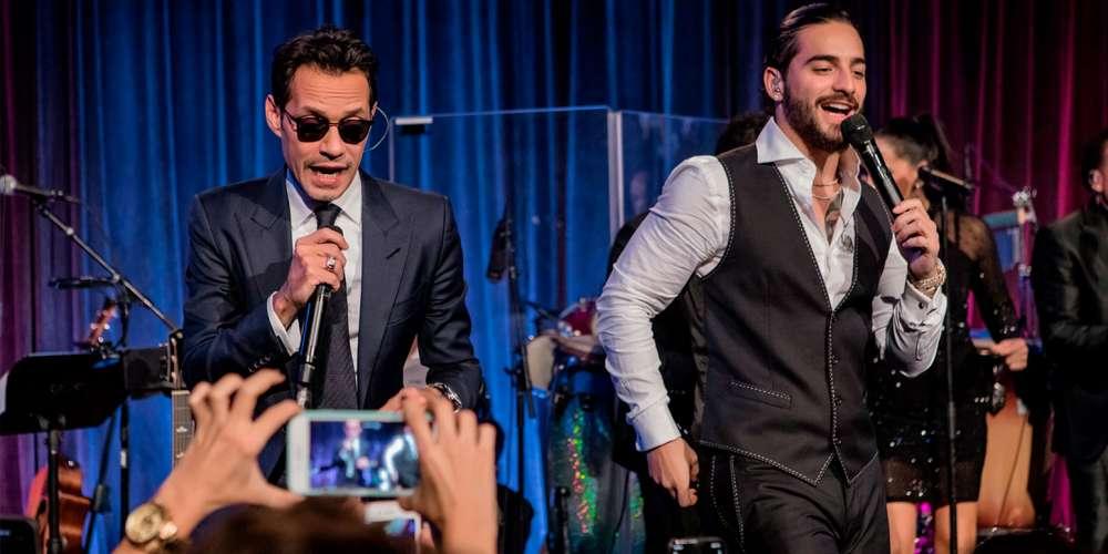 Marc Anthony Besó a Maluma en Pleno Concierto Benéfico y las Redes se Prendieron