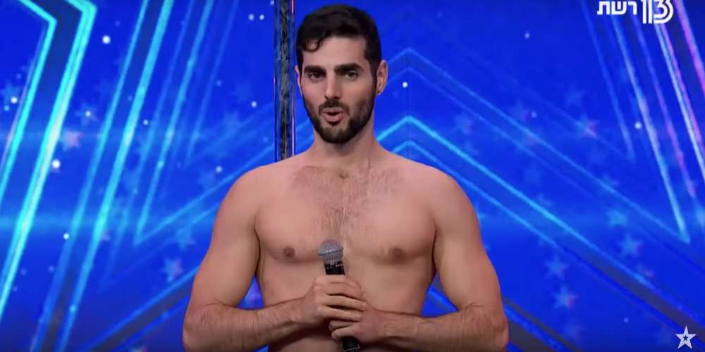 Watch This Shirtless Male Pole Dancer in Stilettos Wow Judges on 'Israel's Got Talent'