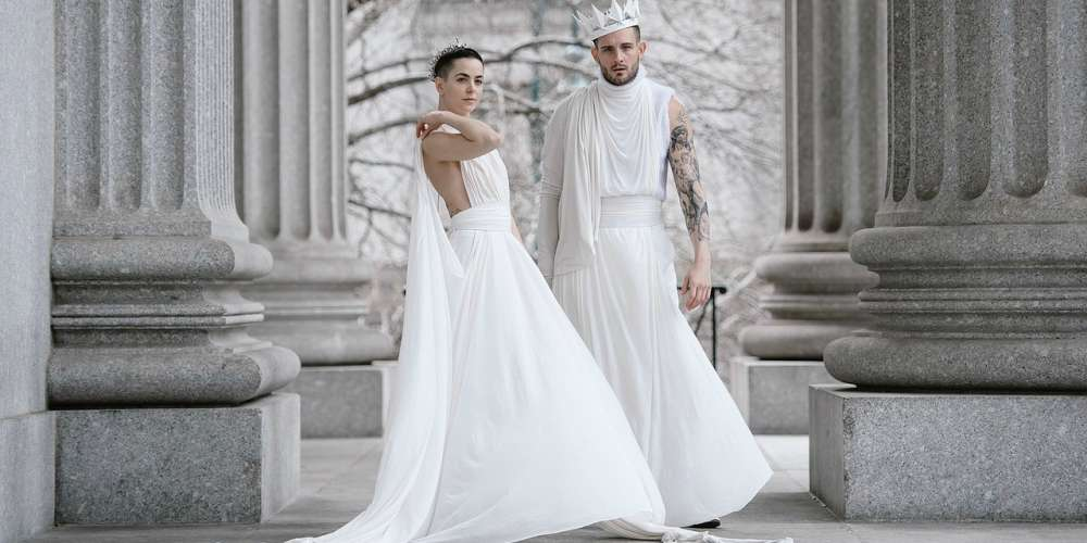 Nico Tortorella Got Married Over the Weekend, and He Walked Down the Aisle in a White Dress