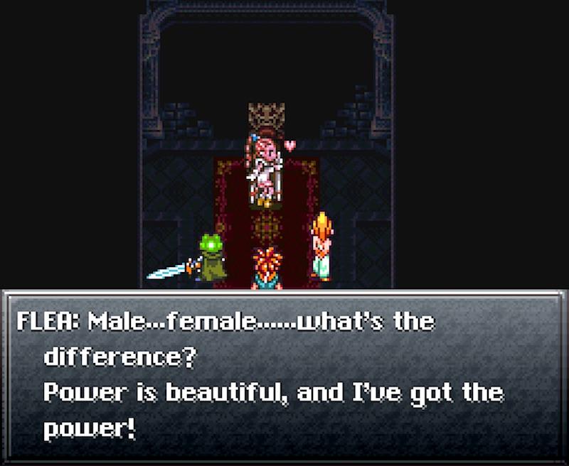 Flea, personaje trans del videojuego Chrono Trigger