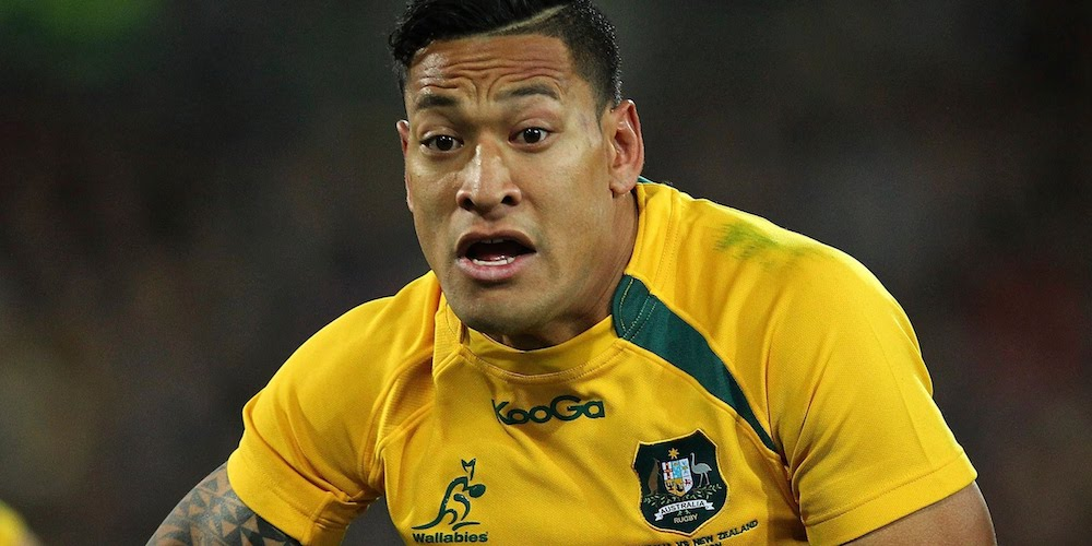 Aussie Pro Rugger Israel Folau: 'God's Plan for Gay People Is Hell'