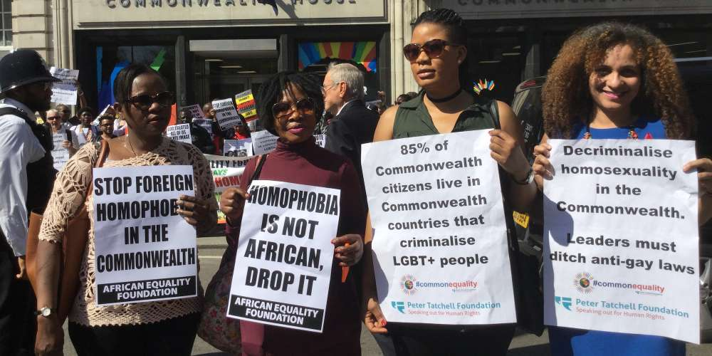 Protesters in London Took to the Streets Demanding LGBT Decriminalization by the Commonwealth