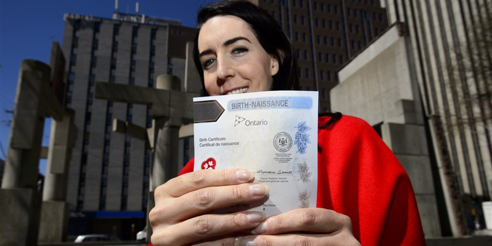 A Boost to Trans Rights, Ontario Just Released Its First Gender-Neutral Birth Certificate