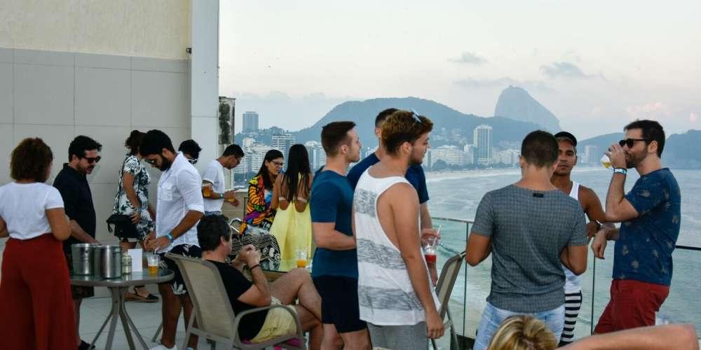 Sunset party bombou no Grand Mercure Rio de Janeiro Copacabana