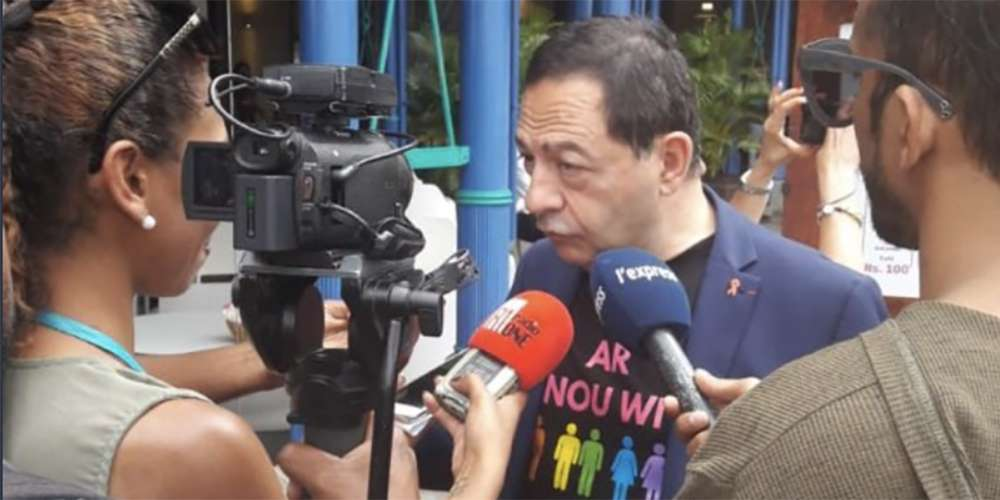 Malgré le deuil, Jean-Luc Roméro-Michel est allé soutenir la Pride de l'île Maurice