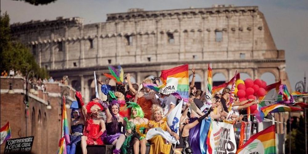 Rome Pride 2018 Brought Nearly Half a Million People to Party in Front of the Coliseum