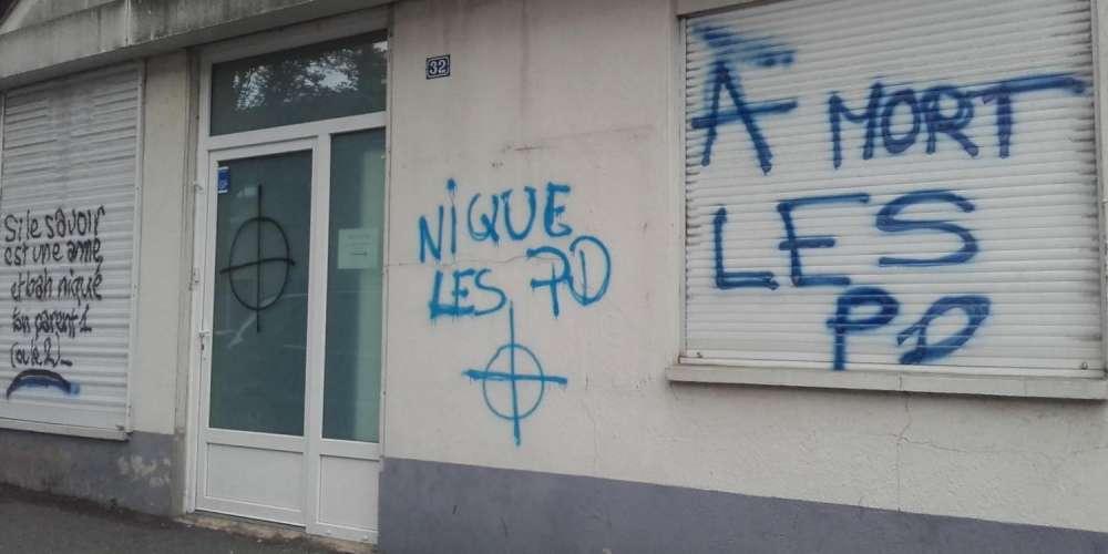 Angers: le local du Centre LGBT recouvert de tags homophobes