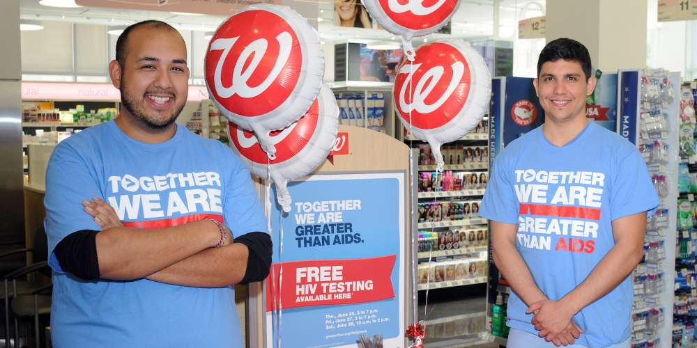 In Honor of National HIV Testing Day on June 27, Walgreens Is Offering Free Testing to All