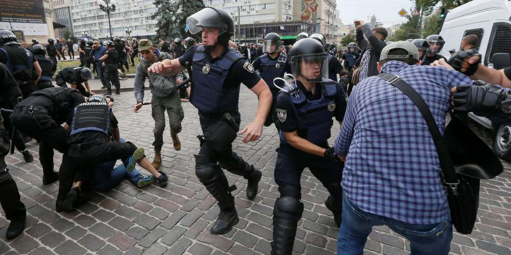 Far-Right Protesters Tried to Stop Pride in Kiev, Ukraine. They Failed.