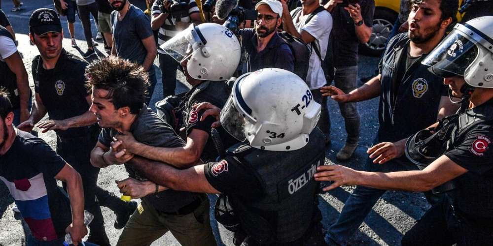 Turkish Police Hit the Istanbul Pride March With Tear Gas and Rubber Bullets Before Making Arrests
