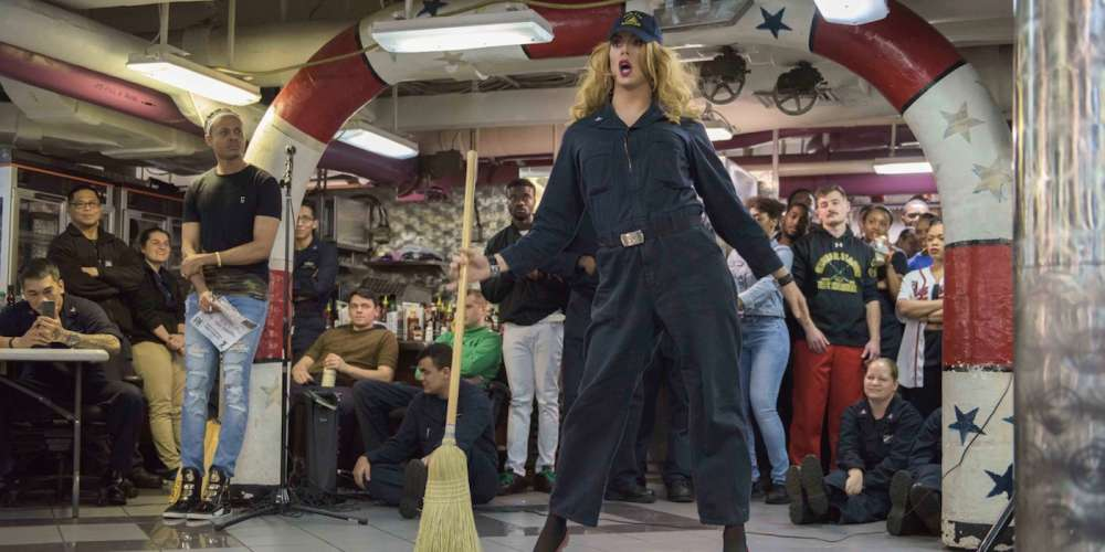 This Navy Drag Queen Treats Fellow Sailors to Live Performances on the Ship