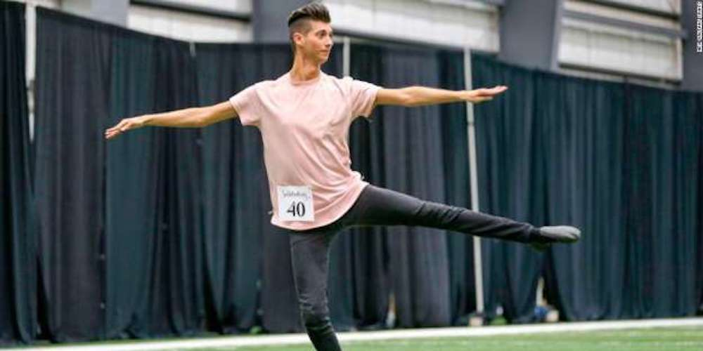 This 25-Year-Old Dancer Just Became the Third Man Ever to Join an NFL Cheerleading Squad