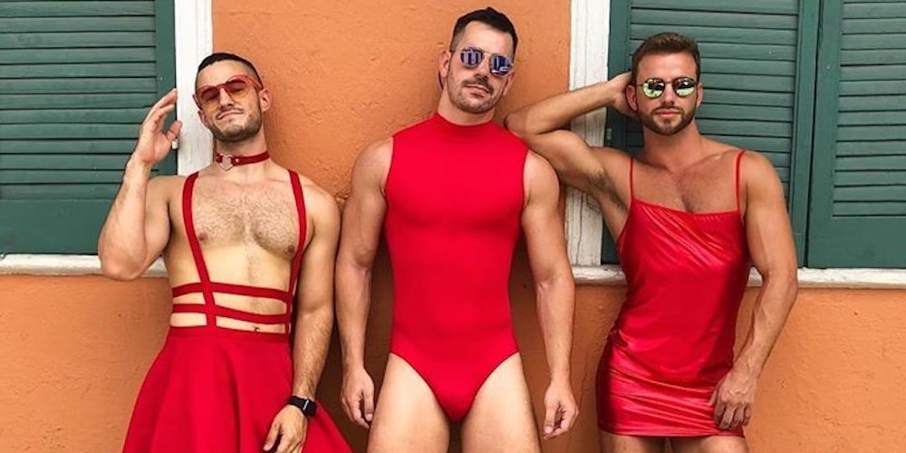 Hundreds of Sexy Men in New Orleans Ran in Red Dresses to Raise Money for Charity