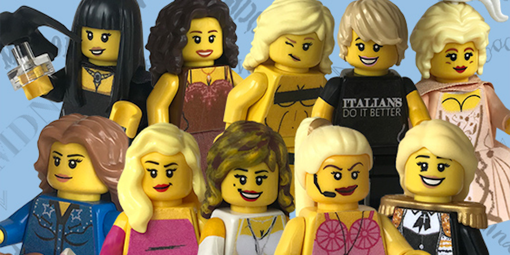 Super-Fan (sosyal eğlence platformu) Madonna'nin doğum gününü, Material Girl (maddi kiz) temalı lego mini-figürleri ile kutluyor