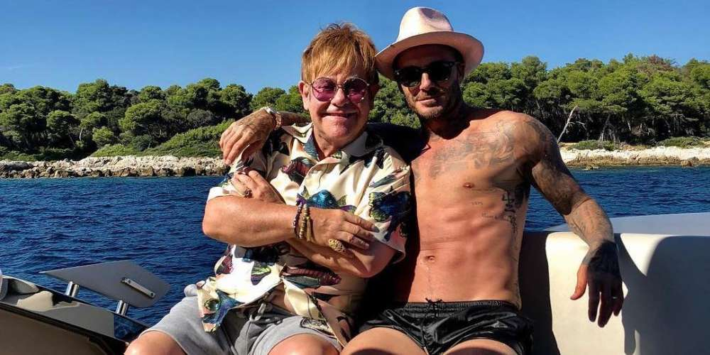 These Pics Have Us Jealous Over Elton John's and David Beckham's French Riviera Vacation