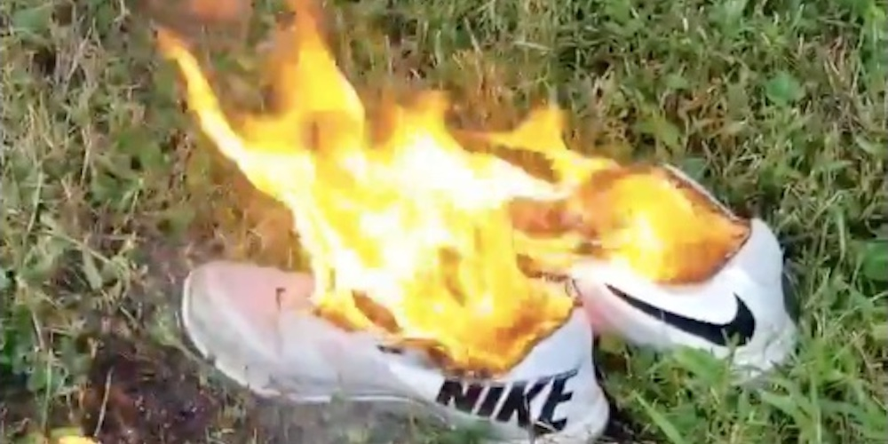 Conservatives Are Literally Setting Their Shoes on Fire to Protest Nike's Latest Ad Campaign