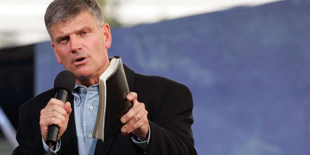 This British Town Will Greet Homophobic Preacher Franklin Graham With a Giant Statue of Gay Jesus