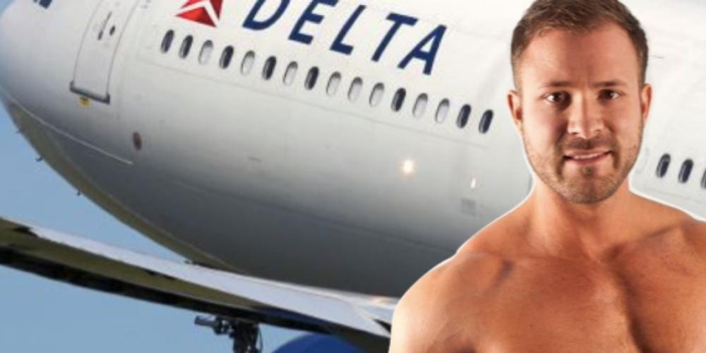 Comissário faz sexo com ator pornô Austin Wolf em avião durante voo e os dois são detidos